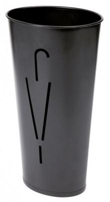 Schirmständer, 10 Schirme, oval schwarz Ø 260 mm x H: 600 mm, Stahl