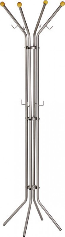 Mobile Standgarderobe Metall silber, pulverbeschichtet, mit 4