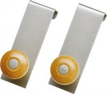 Tür-Garderobenhaken Metall, silber- farben zum Einhängen in die Türfalz