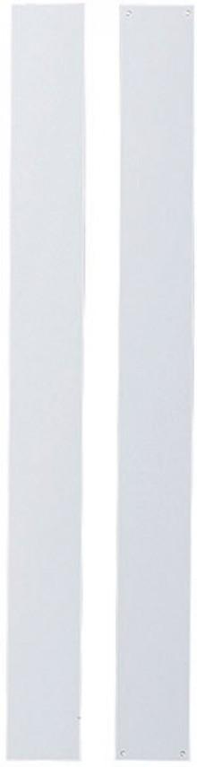 Wand-Magnetleiste, zum Nageln, 1m, weiß, 100x5cm, mit 4 vorgestanzten