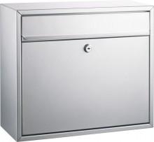 Briefkasten, Stalhblech, silber Größe: 360x310x150mm, Einwurf von