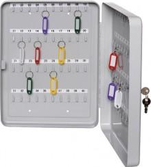 Schlüsselkassette f. 20 Schlüssel lichtgrau, Stahlblech 200x155x60mm