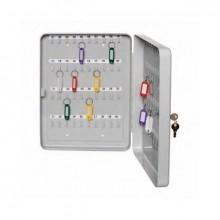 Schlüsselkassette für 42 Schlüssel lichtgrau, Stahlblech 200x160x80mm