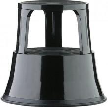 Rollhocker, 40cm hoch, schwarz