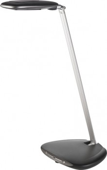 Tischleuchte LED, 4fach dimmbar, schwarz/silbergrau, Energieklasse A,