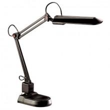 Schreibtischleuchte mit Doppelarm und Standfuß, schwarz
