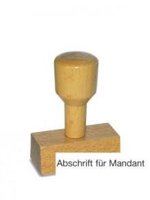 Holzstempel Abschrift für Mandant