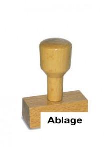 Holzstempel Ablage