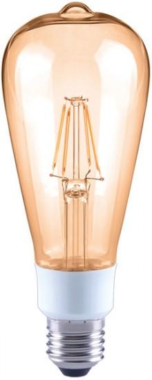 LED-Birne ST64, E27, 4,5W, dimmbar, 400 lm, bernstein