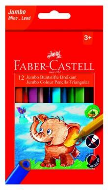 Farbstifte dreikant Jumbo 12er Kartonetui, Minen-Ø 5,4 mm