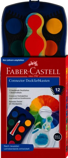 Farbkasten Connector, 12 Farben, blau