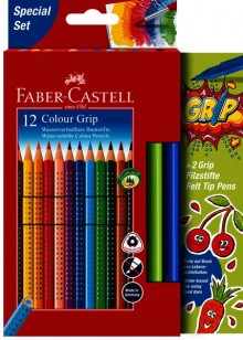 Promoetui Colour Grip + 2 Filzstifte 12er Kartonetui
