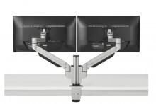 Monitorarm Premium Office Dual für Monitore 2-12 kg, jedes Gelenk