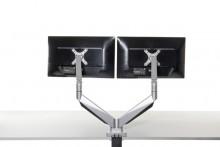 Monitorarm Smart Office 12, dual, für Monitore 2-9 kg, Kabelführung