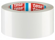 Tesapack PVC, 66m x 50mm, weiß selbstklebend, lösungsmittelfrei,
