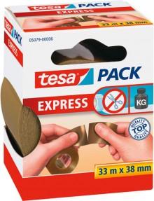 tesapack, braun, PVC, 38mm x 33m, von der Hand einreißbar