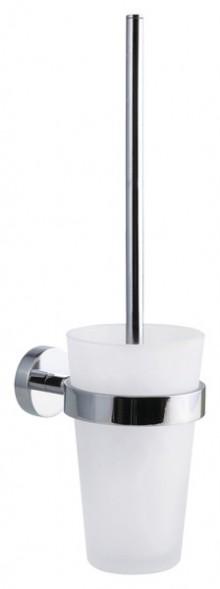 WC-Bürstengarnitur POWER.KIT SMOOZ hochglanzverchromt, satiniertes Glas