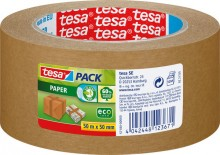 Tesapack Paper ecoLogo® Packband aus Papier, braun, 50m x 50mm