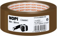 Packband Nopi-Pack, 66m x 38mm, braun, PP