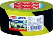 Signal Markierungsklebeband Premium gelb/schwarz PVC 66m:50mm