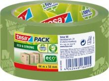 Packband tesapack Eco & Strong 50mm x 66m, grün, bedruckt