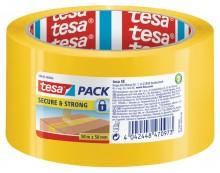 Tesapack Secure und Strong, 50m x 50mm, gelb