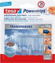 Powerstrip Deco-Haken transparent, large, sicherer halt bis 1 kg.