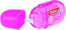 Korrekturroller ecoLogo mini, pink, Einweg, mit Schutzkappe, reißfestes