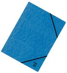 Dreiflügelmappe, A4, 390g/qm, blau