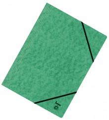 Dreiflügelmappe, A4, 390g/qm, grün