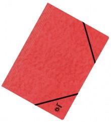 Dreiflügelmappe, A4, 390g/qm, rot