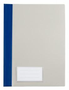 Schnellhefter A4, mit Einsteckfach, blau, transparenter Deckel, PVC