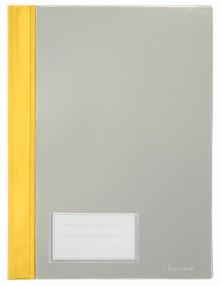 Schnellhefter A4, mit Einsteckfach, gelb, transparenter Deckel, PVC
