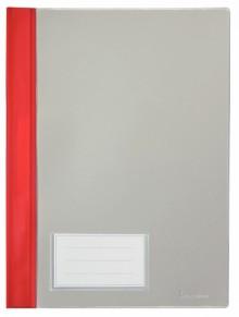 Schnellhefter A4, mit Einsteckfach, rot, transparenter Deckel, PVC
