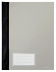 Schnellhefter A4, mit Einsteckfach, schwarz, transparenter Deckel, PVC