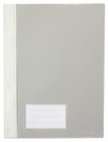 Schnellhefter A4, mit Einsteckfach, weiß, transparenter Deckel, PVC