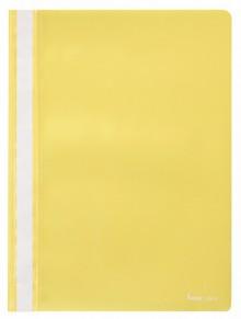 Schnellhefter A4, dokumentenecht, PP, gelb, transparenter Deckel