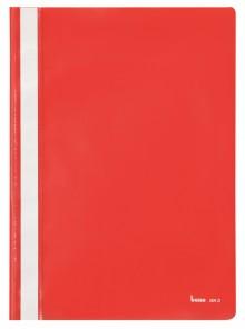 Schnellhefter A4, dokumentenecht, PP, rot, transparenter Deckel