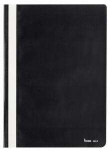 Schnellhefter A4, dokumentenecht, PP, schwarz, transparenter Deckel
