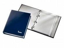 Telefonbuch dunkelblau, 4-Ring- Mechanik, mit Kartonregister,