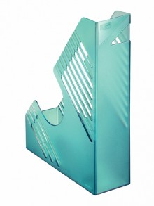 Zeitschriftenbox, blau transparent, für ca. 700 Blatt, A4 und A4
