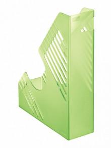 Zeitschriftenbox, grün transparent, für ca. 700 Blatt, A4 und A4