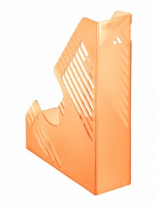 Zeitschriftenbox, orange transparent, für ca. 700 Blatt, A4 und A4
