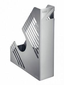 Zeitschriftenbox, silber metallic, für ca. 700 Blatt, A4 und A4