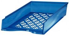 Briefkorb A4-C4, blau metallic, Außenmaß: B255 x T65 x H370,