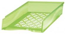 Briefkorb A4-C4, grün transparent, Außenmaß: B255 x T65 x H370,