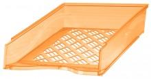 Briefkorb A4-C4, orange transparent, Außenmaß: B255 x T65 x H370,