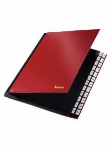 Pultordner, PP, A-Z, 24 Fächer, rot, dehnbarer Rücken