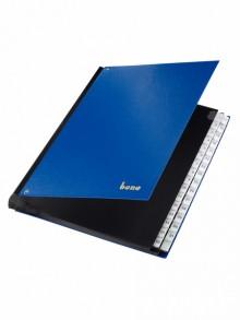 Pultordner, PP, 1-31, 31 Fächer, blau, dehnbarer Rücken