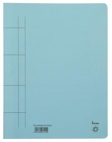 Schnellhefter, A4, 250g/m2, blau kaufm. Heftung, für ca. 250 Blatt